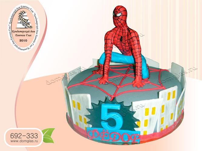 торт детский человек паук город