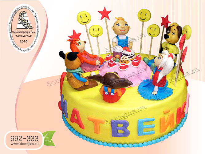торт детский барбоскины ребенок