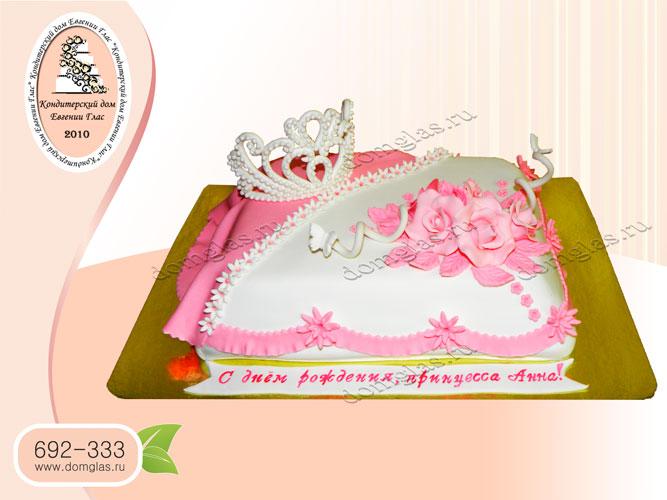 торт детский корона розы принцессе