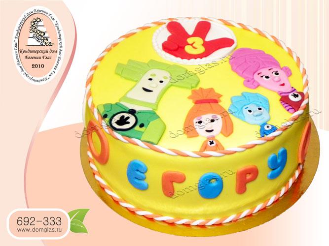 торт детский фиксики нолик симка папус мася