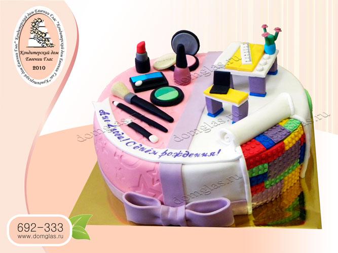 торт детский лего косметика  помада компьютер