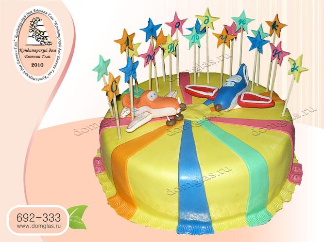 торт детский самолеты