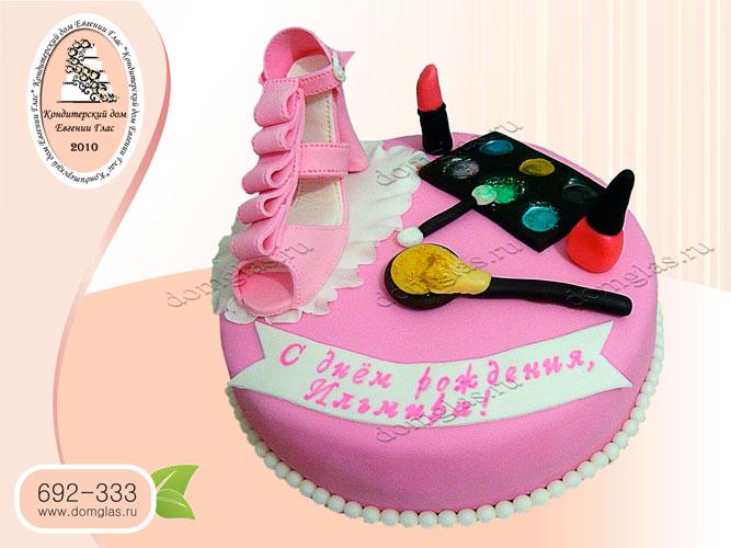 торт детский туфелька косметика