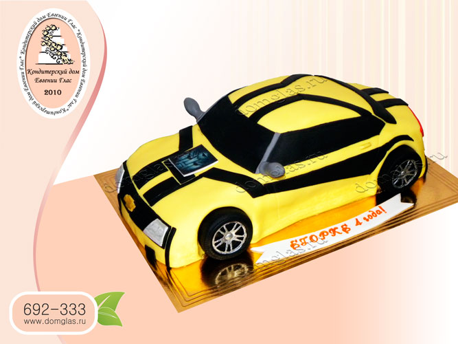 торт детский машина трансформер