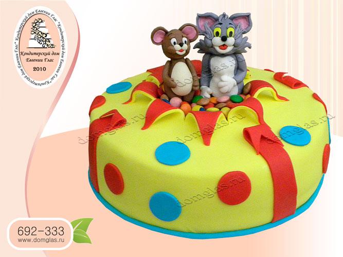 торт детский том и джери
