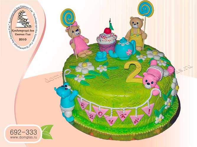 торт детский мишки шарики