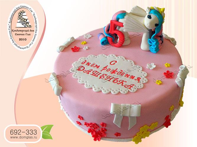 торт детский пони бантики