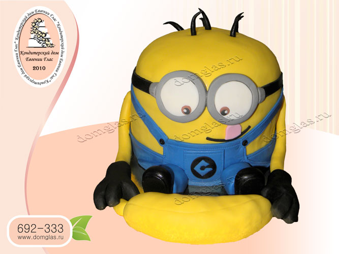 торт детский миньон банан