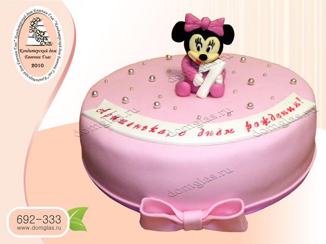 торт детский мышонок мини бант