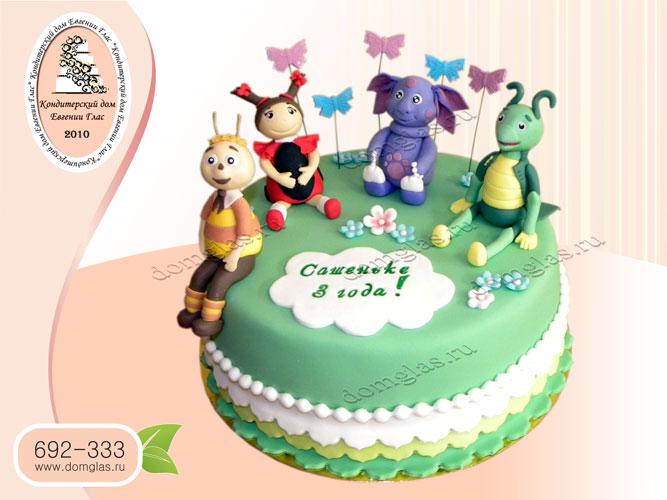 торт детский лунтик кузя мила пчеленок