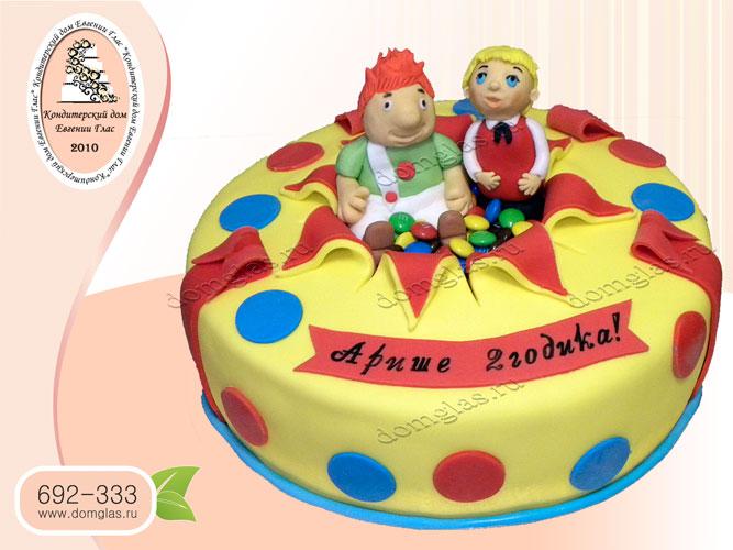 торт детский малыш и карлсон