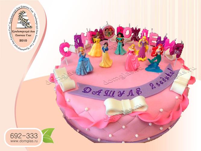 торт детский принцессы диснея золушка русалочка