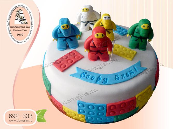 торт детский лего ниндзя