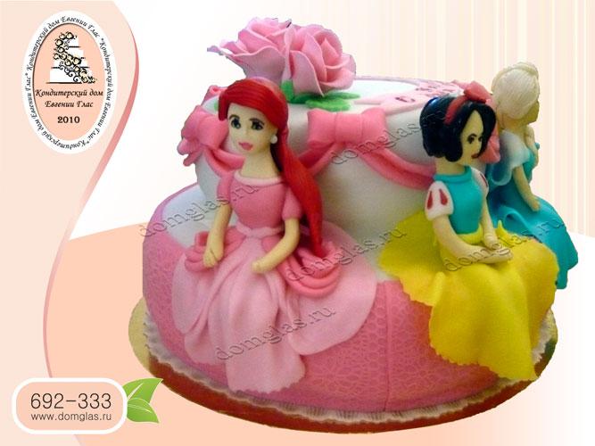 торт детский принцессы диснея