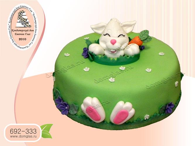 торт детский зайчик морковка