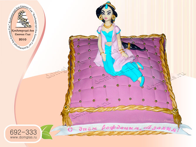 торт детский принцесса жасмин
