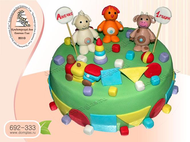 торт детский барашек щенок теленок игрушки