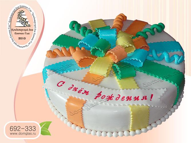 торт детский бант разноцветный