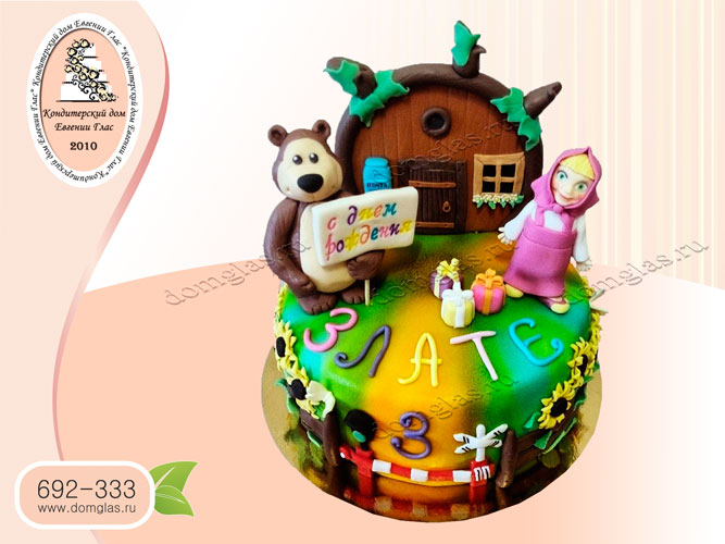 торт детский маша и медведь