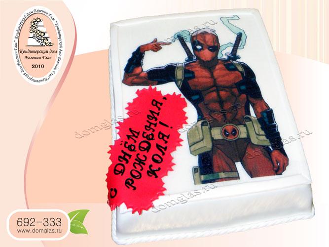 торт детский супергерой дэдпул