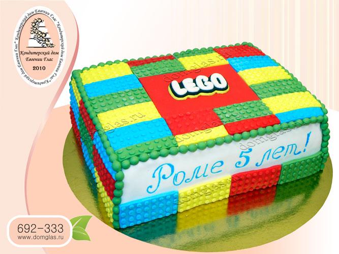 торт детский лего