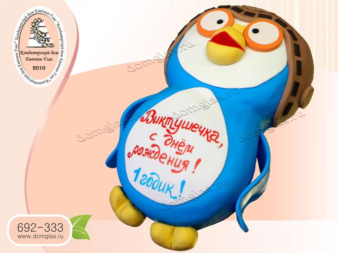 торт детский пингвиненок пороро
