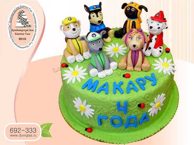 торт детский щенячий патруль щенки