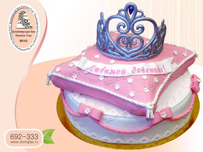 торт детский корона на подушке