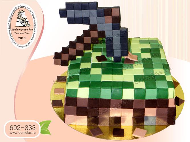 торт детский майнкрафт арбалет