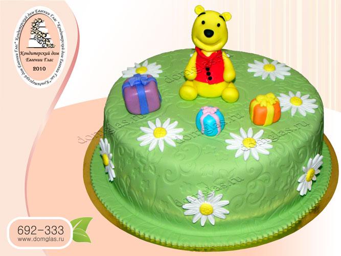 торт детский медвежонок винни пух