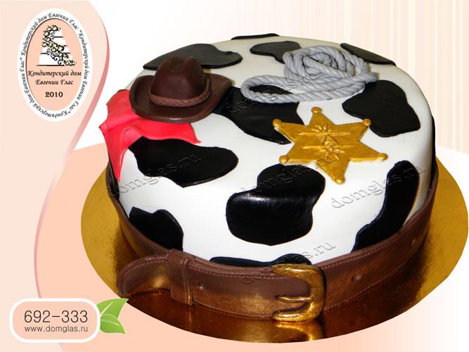 торт детский ковбойский звезда шерифа шляпа