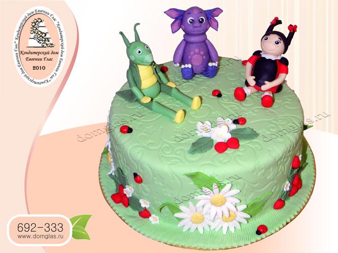 торт детский лунтик кузя мила полянка