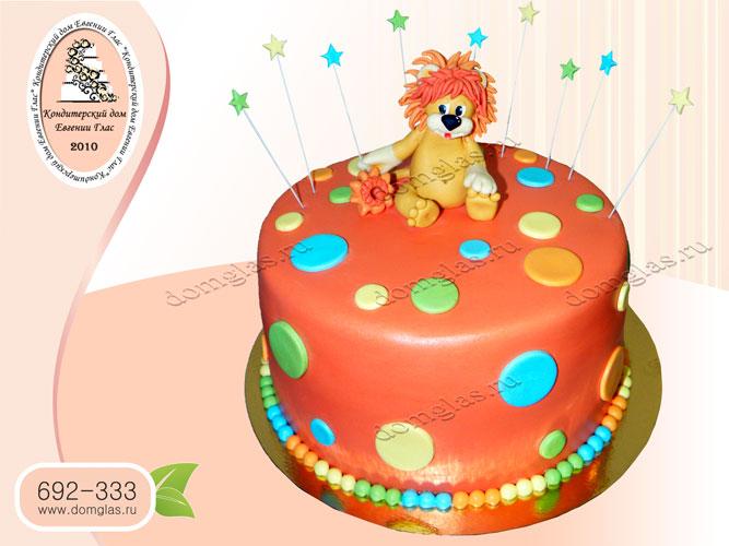 торт детский львенок звездочки