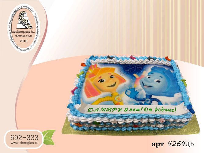 дб торт детский фотопечать фиксики