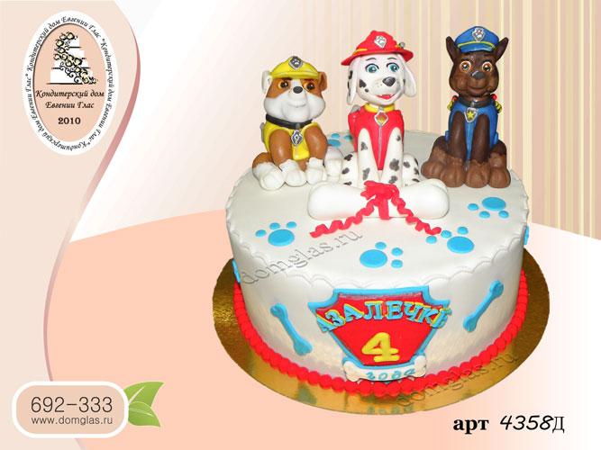 д торт детский щенячий патруль