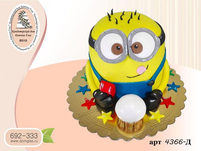 д торт детский миньон 3 д