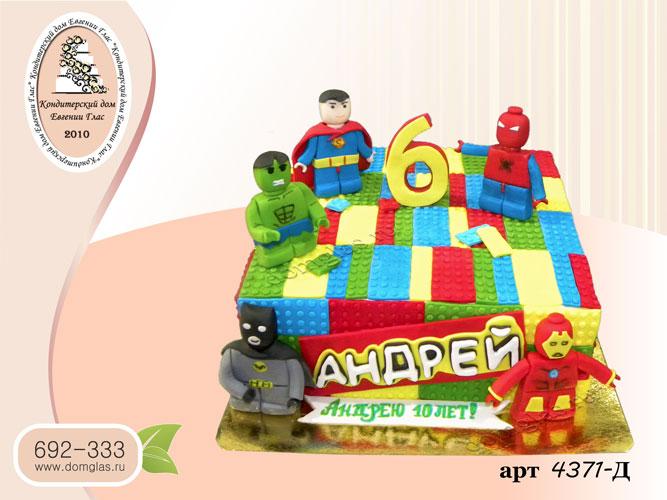д торт детский лего супер герои