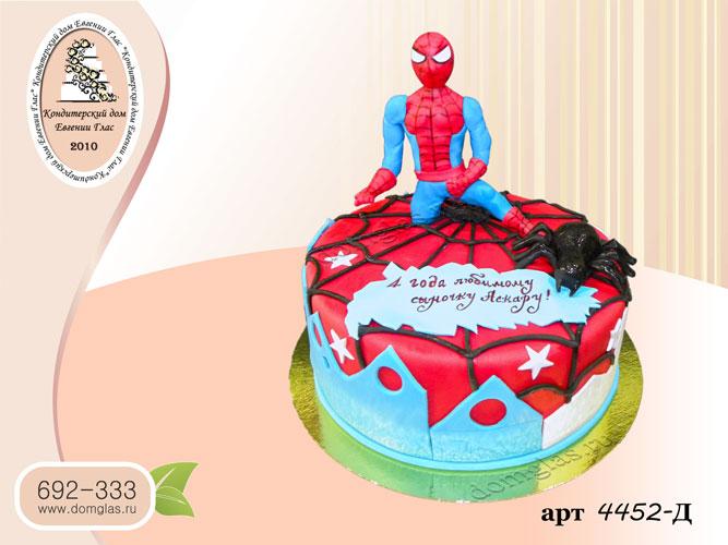 д торт человек паук фигурка