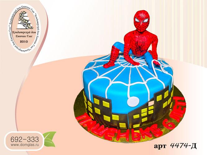д торт человек паук фигурка город