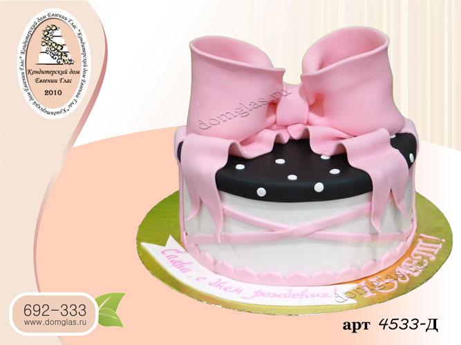 д торт коробка с бантом