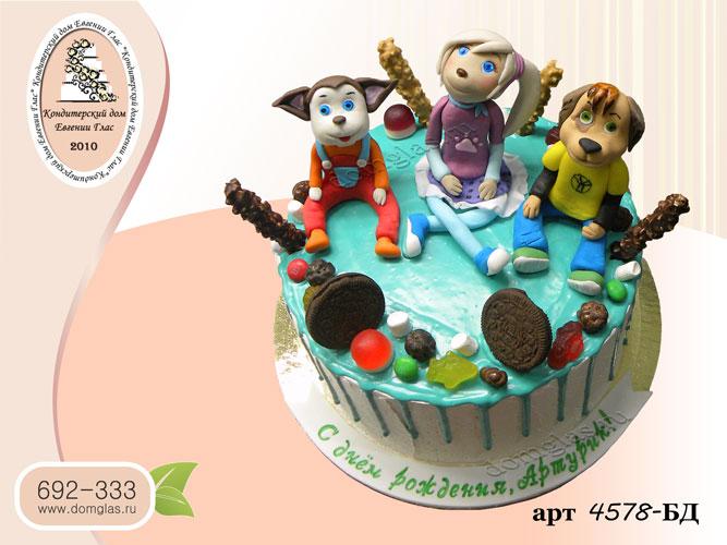 дб торт глазурный фигурки барбоскины сладости