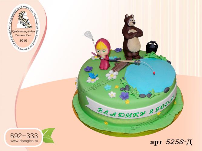 д торт маша и медведь на рыбалке