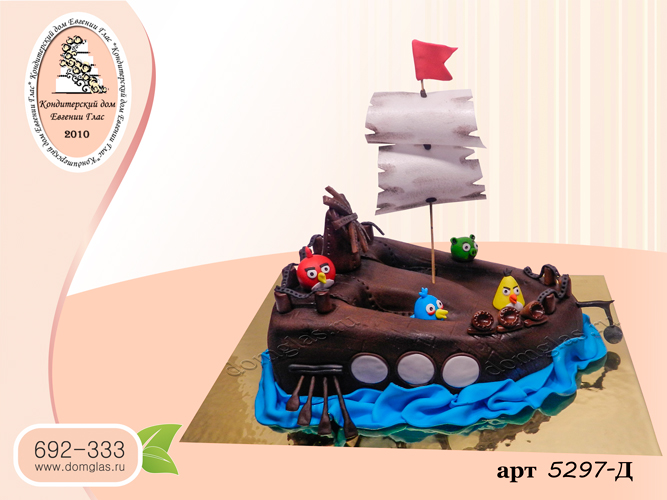 детский 3д корабль ангри бердс  фигурки