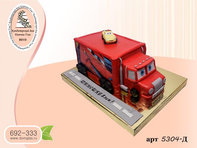 детский 3д грузовик мак тачки фигурка