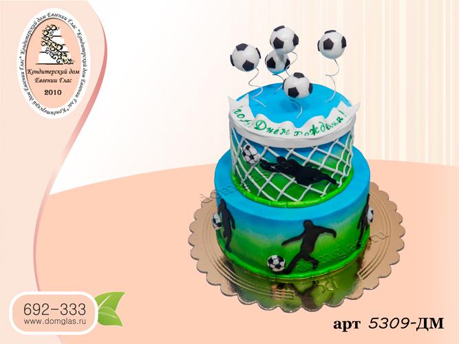 детский мужской два яруса футбол кейк-попсы