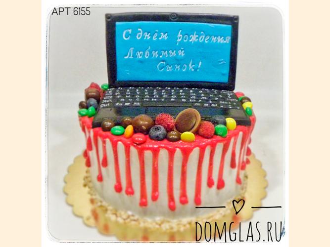 детский ноутбук на торте