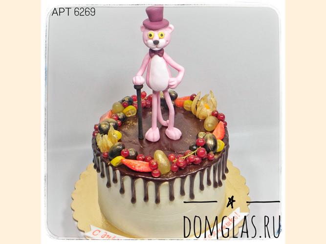 детский розовая пантера фигурка на торте