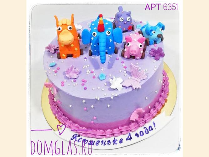 детский мастичные фигурки животных на торте