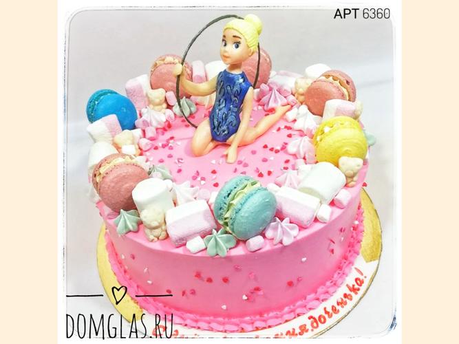 детский Гимнастка фигурка на торте