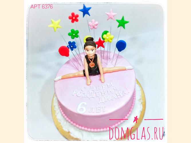 детский фигура гимнастки на торте